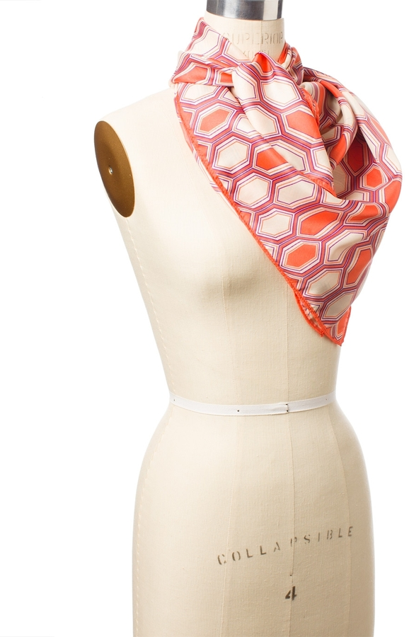 The Limited Octagon Geo Printed Large Square Scarf