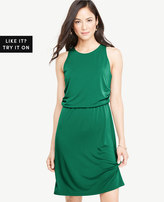 Ann Taylor Matte Jersey Side Drape Dress
