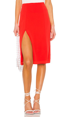 superdown Crystal Slit Midi Skirt