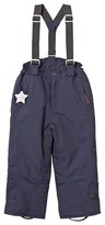 Mini A Ture Navy Witte Ski Pants with Removable Braces