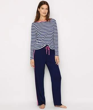 Pour Moi? Pour Moi Jersey Knit Striped Pajama Set