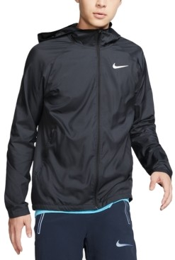 Nike Men's Essential Water-Repellent Hooded Running Jacket
