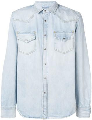 Diesel Bleached Button Down Shirt