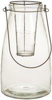 Creative Co-Op glass fillable lantern tealight holder
