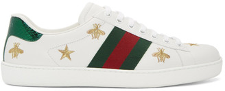 Gucci White Bee and Star New Ace Sneakers