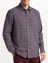 John Lewis Winter Tattersall Check Soft Flannel Shirt, Multi