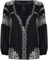 Clips etno print blouse