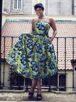New York & Co. Gala Jacquard Strapless Dress