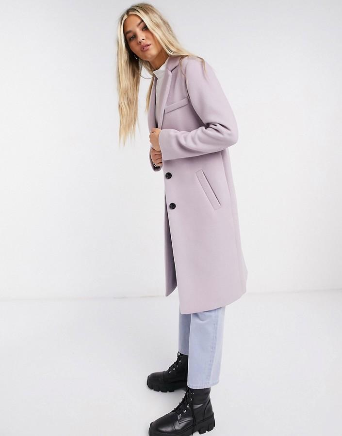 Gianni Feraud Lilac single breasted overcoat