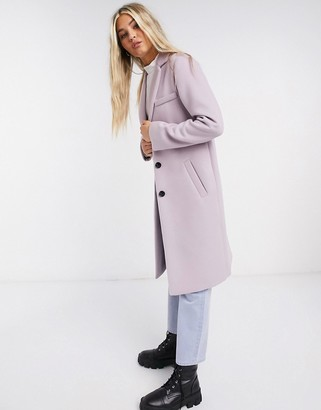 Gianni Feraud Lilac single breasted overcoat