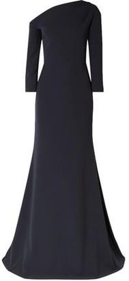 Lela Rose One-shoulder Stretch-cady Gown
