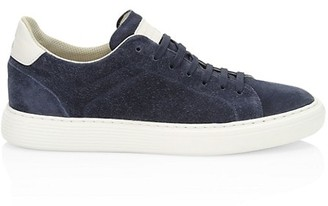 Brunello Cucinelli Airsole Suede Low-Top Sneakers