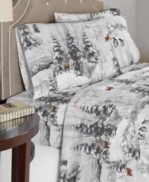 Celeste Home Luxury Weight Cotton Flannel Sheet Set Cal King Bedding