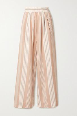 Mara Hoffman + Net Sustain Paloma Striped Tencel Lyocell And Organic Cotton-blend Wide-leg Pants - Sand