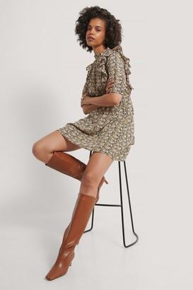 NA-KD High Neck Flounce Mini Dress