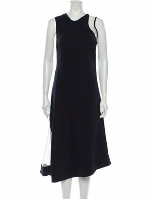 Nomia Crew Neck Midi Length Dress w/ Tags Blue