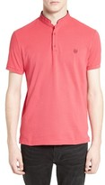 The Kooples Men's Tipped Band Collar Polo