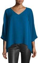 Diane von Furstenberg Elsi 3/4-Sleeve V-Neck Silk Top