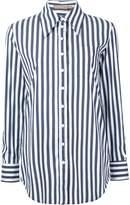 Michael Kors striped boyfriend fit shirt