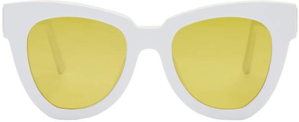 Gentle Monster White Laser Sunglasses