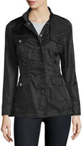 Jane Post High-Neck Snap-Front Jacket