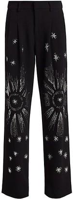 Libertine Stars Embellished Wool-Blend Pants
