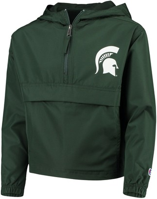 Champion Youth Green Michigan State Spartans Pack & Go Windbreaker Jacket