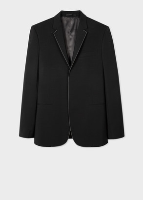 Paul Smith Men's Tailored-Fit Black Wool-Mohair Blazer