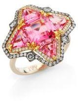 Ivy Diamond & Pink Spinel Quatrefoil Ring