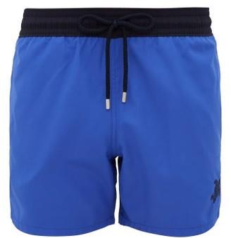 Vilebrequin Logo Embroidered Packable Swim Shorts - Mens - Blue Multi