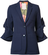 Roksanda bow jacket - women - Silk/Cotton - 8