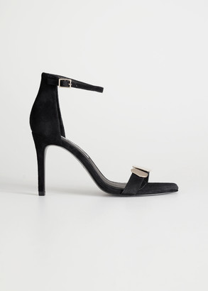 And other stories Suede Square Toe Heeled Sandals