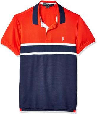 U.S. Polo Assn. Men's Feel Dry Poly Pique Polo Shirt
