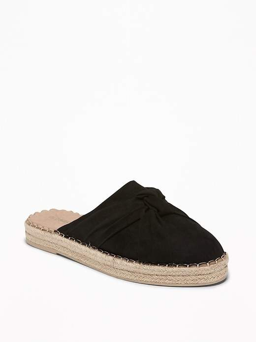 Old Navy Knotted Faux-Suede Slide Espadrilles for Women