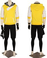 CG Costume Men's Pokemon Go Trainer Hoodie Team Mystic Valor Instinct Medium