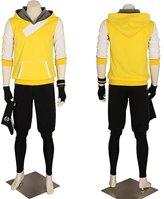 CG Costume Men's Pokemon Go Trainer Hoodie Team Mystic Valor Instinct Small