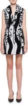 Halpern Sequined Swirl Jacket Mini Dress