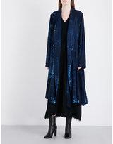 Y's Ys Tie-dye poplin coat