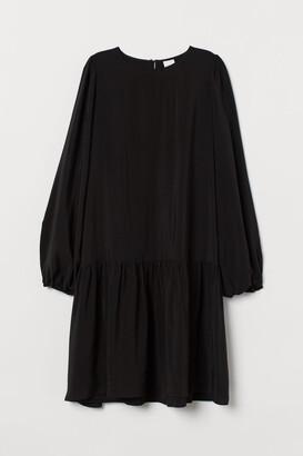 H&M Creped Dress - Black