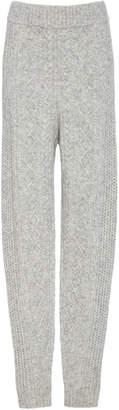 Sally LaPointe Cable-Knit Wool-Blend Slim-Leg Pants