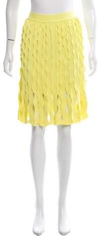 Maison Rabih Kayrouz Pleated Cutout Skirt