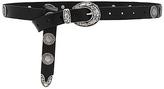 Linea Pelle Medallion Belt in Black. - size L (also in XS)
