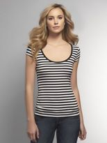 New York & Co. Striped Scoop-Neck Tee