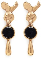 Valentino Resin disc drop earrings