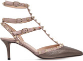 Valentino Rockstud 65 leather t-bar courts