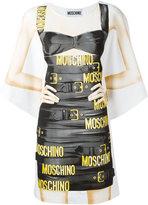 Moschino bondage print T-shirt dress
