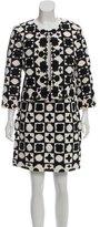 Oscar de la Renta Embroidered Skirt Suit