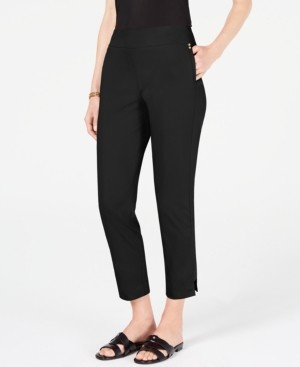 JM Collection Side Step Hem Ankle Pants, Created for Macy's