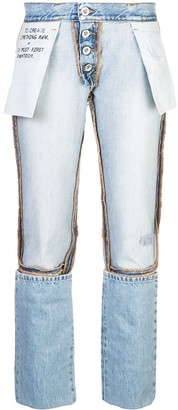 Unravel Project Inside Out Boyfriend Jeans