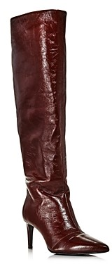 Rag & Bone Women's Beha Pointed Toe Knee-High Leather Boots